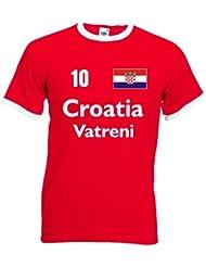 Croatia Vatreni /Kroatien Herren T-Shirt Retro Trikot Nr.10