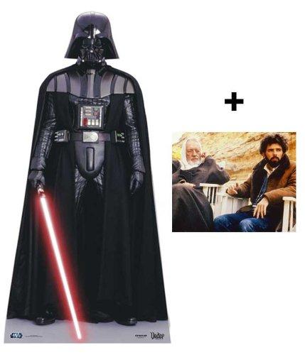 *FANBÜNDEL* - DARTH VADER - LEBENSGROSSE PAPPFIGUREN / STEHPLATZINHABER / AUFSTELLER (Größe 191cm) - Star Wars Classic Villain - ENTHÄLT 8x10