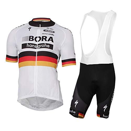 Wulibiike Radbekleidung Herren Sommer Fahrrad Trikot Hose Set Rennrad Outfit Deutschland Flagge