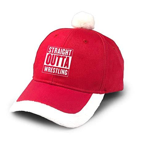 NA Santa Baseball Cap,Straight Outta USA Wrestling Christmas Baseball Cap