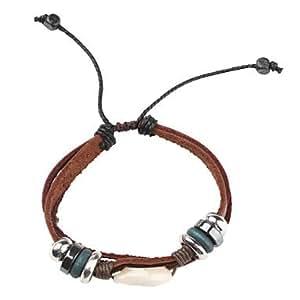 z&bracelet en cuir x multicouche bracelet vintage avec cauri