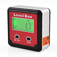 ONEVER La base magn¨¦tica port¨til ¨ngulo digital medidor de nivel Caja Angle Finder indicador de nivel del medidor