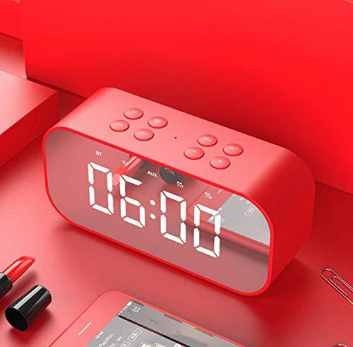 huiayng Bluetooth Lautsprecher Mini Bluetooth Lautsprecher Stereo Spalte LED Display Thermometer Freisprecheinrichtung mit Mic Subwoofer