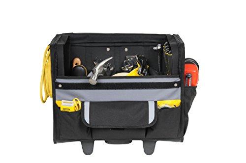 Stanley Werkzeugkoffer / Werkzeugtasche mit Rollen, (44.5x25.5x42cm, wasserfester Kunststoffboden, Trolley aus strapazierfähigem und robustem 600x600 Denier Nylon, viele Verstaumöglichkeiten) 1-97-515 - 5