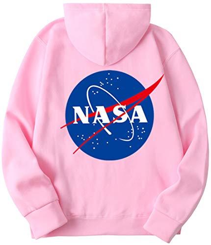 EMILYLE Uomo NASA Felpe con Cappuccio Manica Lunga Colori Multipli Color Caramella Galaxy Planet Stampato Hoodie
