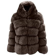 Evokems Mujer Casual Espesar Invierno cálido Faux Conejo Abrigo de Piel Outwear Abrigos