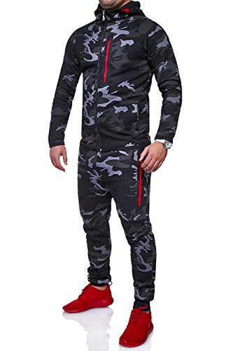 MT Styles Trainingsanzug HARLEM Sporthose TR-5037 [Schwarz, L]
