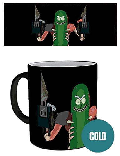 1art1® Rick Y Morty - Pickle Rick, Rickinillo con Disfraz De Rata Taza Mágica Cambia De Color (9 x 8cm)