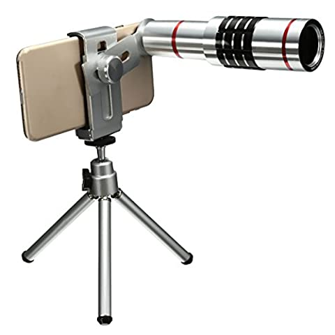 MASUNN 18X Univesal Mobile Phone Telephoto Lens Telescope Mount Tripod For Cellphone