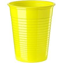 Paquete de 50vasos de plástico 20cl amarillo