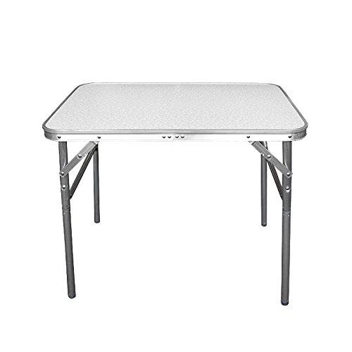 Wohaga® Mesa de Camping plegable aluminio 75x 55x 60cm transportable –Mesa plegable...
