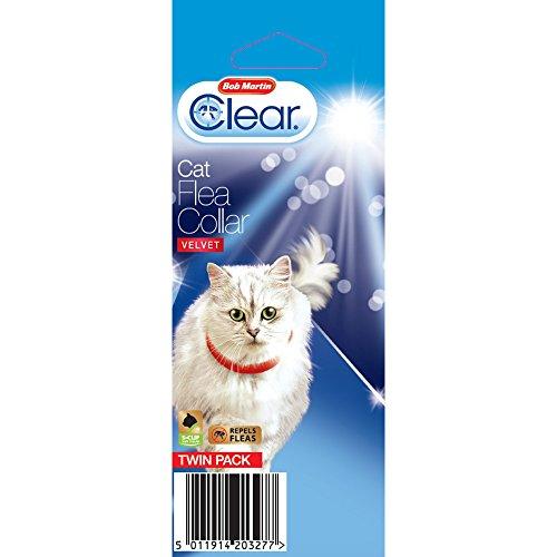 bob-martin-clear-cat-velvet-flea-collar-twin-pack-one-size-velvet