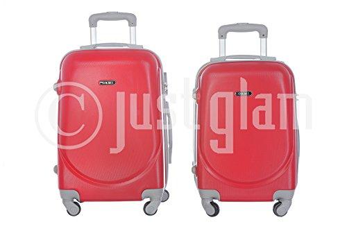 JustGlam - Bagaglio a mano Ormi 2010 Trolley rigido ABS policarbonato 4ruote adatto per voli lowcost/ Rosso