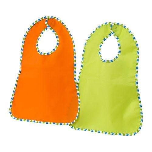 kladd RANDIG–Babero, verde, naranja