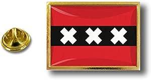 Spilla Pin pin's Spille spilletta Giacca Bandiera Distintivo Badge Amsterdam
