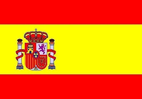 U24 Fahne Flagge Spanien mit Wappen Bootsflagge Premiumqualität 20 x 30 cm