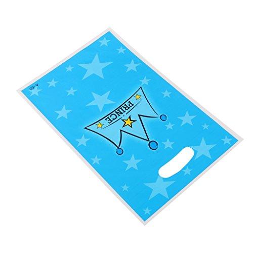 tfxwerws Pack von zehn Kunststoff Baby Dusche Party Favor Taschen Prince Krone Geschenk Tüte
