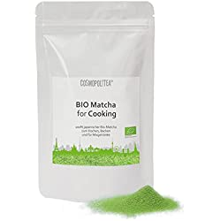 BIO-Matcha for Cooking, 100g - (Original japanischer Grüntee, kbA) Ideal zum Kochen, Backen für grüne Smoothies und Mixgetränke, auch vegan, vegetarisch im wiederverschließbaren Beutel