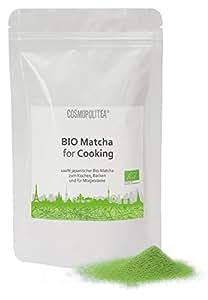 bio matcha for cooking 100g original japanischer gr ntee kba ideal zum kochen backen f r. Black Bedroom Furniture Sets. Home Design Ideas
