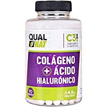 Colágeno + Acido Hialurónico + Zinc + Vitamina C, ayuda a mantener la flexibilidad de las articulaciones, bueno para la piel, 90 cápsulas,