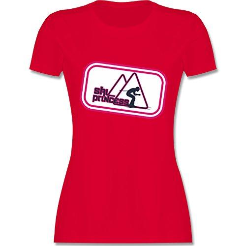 Après Ski - Ski Princess - tailliertes Premium T-Shirt mit Rundhalsausschnitt für Damen Rot