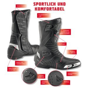 Büse Sport Stiefel, Schwarz, 43 - 2
