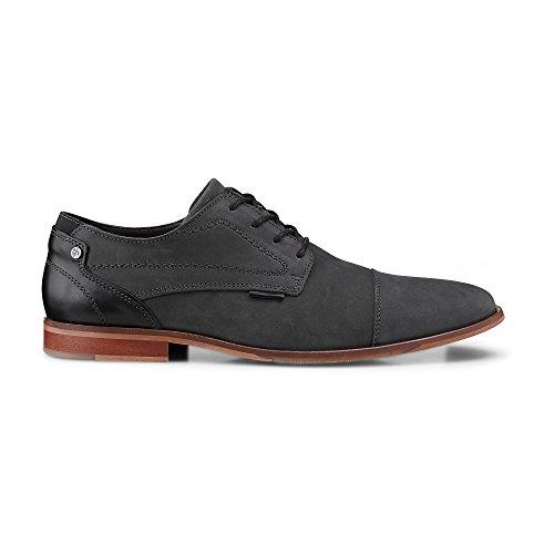 Cox Herren Herren Business-Schnürschuh, graue Leder Schuhe im Business-Stil grau Leder 45