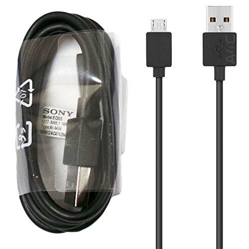 Sony EC803 Micro-USB-Datenkabel für Xperia X XA X Performance Z5 M4 M5 Z4 Z3 Z2 Compact Premium und andere Sony Xperia Micro-USB-Anschlüsse, schwarz (keine Einzelhandelsverpackung)