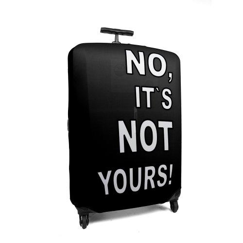 HAUPTSTADTKOFFER – Reise Gepäckgurt I Kofferüberzug aus Polyester/Lycra I Kofferhülle I Kofferschutzhülle 52905775 I Größe M I Farbe: Schwarz (Lycra-folie)