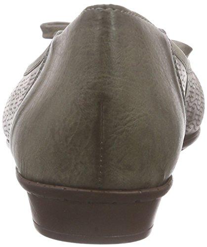 Rieker 46057 Women Closed Toe, Ballerines fermées femme Gris - Grau (elefant / 42)