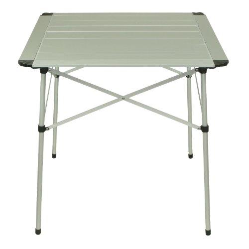 10T AluTab Campingtisch 70x70cm mobiler 2 – 4 Mann Aluminium Tisch wasserfester Roll-Up Gartentisch