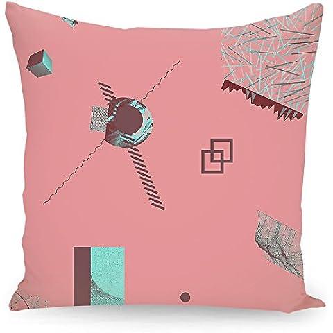 """Cuscino 50x50 cm Geometria illustrazione pastello """"Oggetti 08"""" rosa - Cuscino - stampato fronte e retro - Cuscini """"Geometria illustrazione pastello"""" di """"Andreas Jarner"""""""