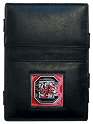 NCAA South Carolina Fighting Gamecocks Leather Jacob's Ladder Wallet
