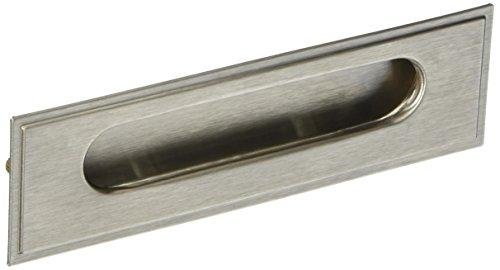 Sourcingmap a12073000ux0909 - Puerta corredera de armario de tirador de un cajón rectangular tono plateado empotrado tirón ras