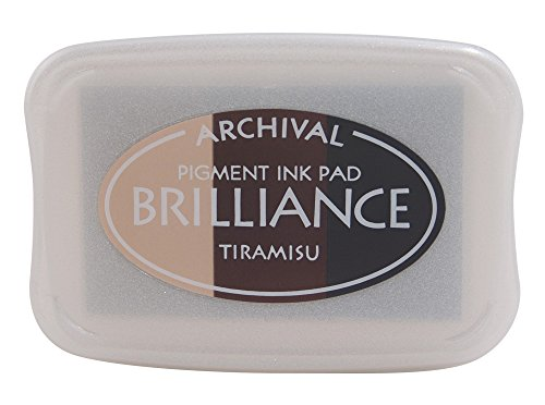 Brilliance 3 Colour Ink Pads Tsukineko Brilliance Pad, Tiramisu