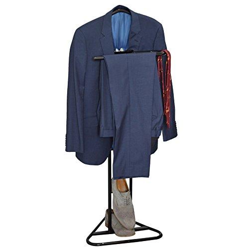 Anzug  Kleider  Kleidung  Herrendiener  Kleiderständer aus schwarzem Metall