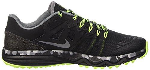Nike Dual Fusion Trail 2, Scarpe da Corsa Uomo Nero (Schwarz;gelb;grau)