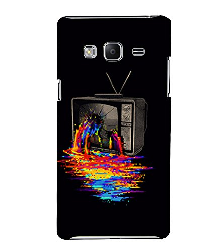Broken Television 3D Hard Polycarbonate Designer Back Case Cover for Samsung Galaxy Z3 Tizen :: Samsung Z3 Corporate Edition  available at amazon for Rs.389