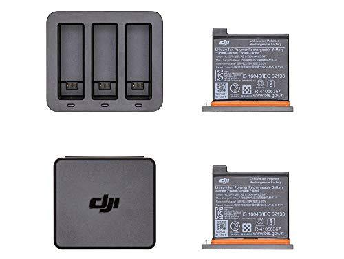 DJI Osmo Action Part 6 Charging Kit (EU) Auflade-Hub mit 3 Akkus inklusive, Batteriebox für Videocamera, Ladesystem, Ladesystem, maximale Effizienz in 130 Minuten