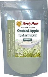 Thirsty Fresh Custard Apple Powder 200g - (Pack of 4x50g) | Spray Dried Ready to Use