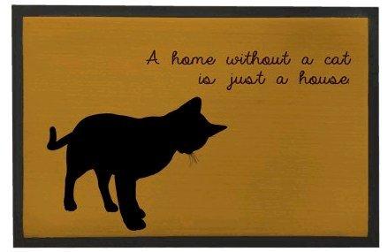 Felpudos Gatos con texto en una casa sin un gato sólo una casa Felpud