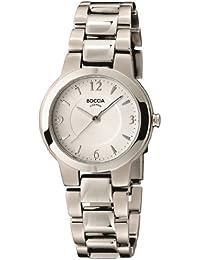 Boccia B3175-01 - Reloj de mujer de cuarzo, correa de titanio color plata