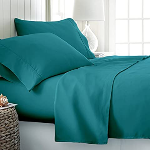 100% EGYPTIAN COTTON 200 THREAD COUNT HOTEL QUALITY PILLOW CASE PAIR (Oxford Pillowcase, Teal)