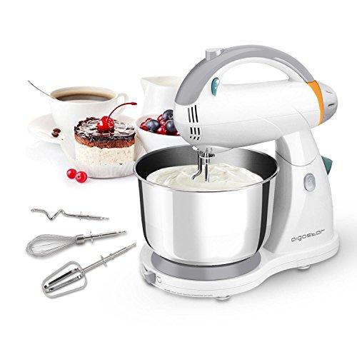 Foto de Aigostar Sourdough 30HLZ - Robot de cocina 2 en 1: robot de sobremesa multifunción y batidora de mano, 3000W. Accesorios incluídos, 12 velocidades: amasa, mezcla, bate. Libre de BPA. Diseño exclusivo.