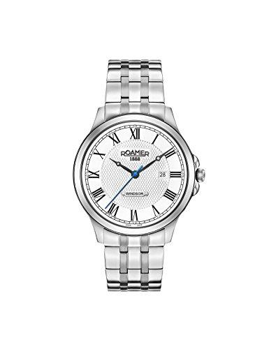 Roamer Herren Datum klassisch Quarz Uhr mit Edelstahl Armband 706856 41 12 70