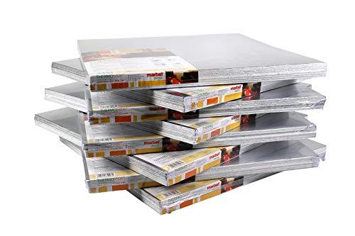 1 qm | Isolierplatten mit Alufolie Wand Isolierung | 50x50cm | Hexim | THERMO-STOP 4