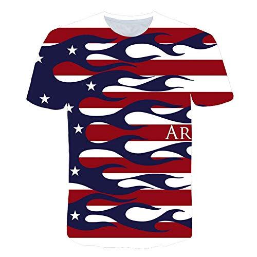 NSDX Herren 3D T-Shirt American Eagle Printed 3D T-Shirt Männer Usa Banner Kurzarmhemd Hip Hop Männer Frauen Eagle T-Shirt T-Shirt Homme