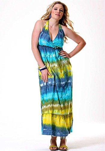 Joe Browns Damen-Kleid Maxikleid mit Pailletten Mehrfarbig Türkis-Bunt