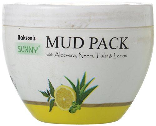 Sunny Baksons Mud Pack with Aloe Vera Neem Tulsi and Lemon (150 g)