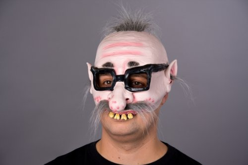 Festartikel Müller Maske Opa hässlicher Kauz Opamaske Halloween Karneval Fasching